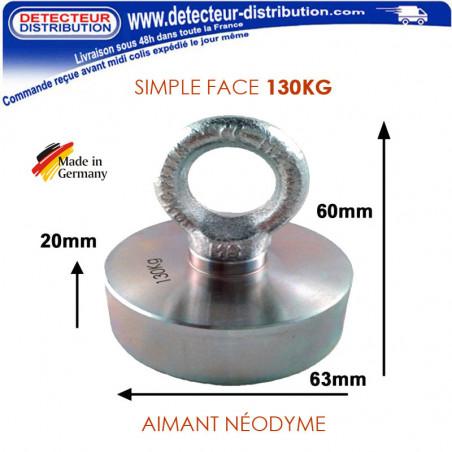 Aimant Néodyme DMD PRO 130 kg d'adhérence fabriqué en Allemagne