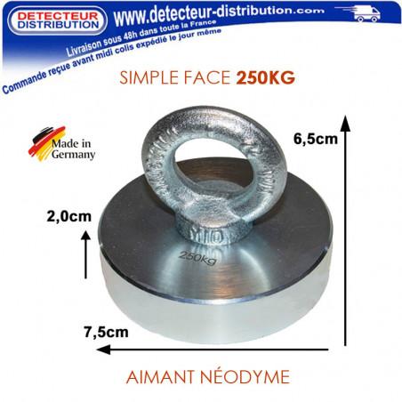 Aimant Néodyme DMD PRO 250 kg d'adhérence fabriqué en Allemagne